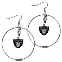 NFL Oakland Raiders Hoop Earrings, 2-Inch