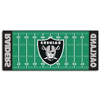 FANMATS NFL Oakland Raiders Nylon Face Football Field Runner