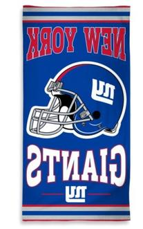 """NFL Officially Licensed New York Giants 30""""x60"""" Cotton Beach"""