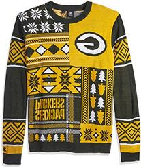 NFL Green Bay Packers Patches Ugly Sweater, Green, Medium
