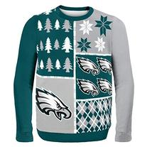 NFL Philadelphia Eagles Busy Block Ugly Sweater, X-Large,