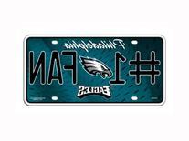 NFL Philadelphia Eagles #1 Fan Metal Auto Tag