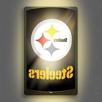NFL Pittsburgh Steelers MotiGlow Light Up Sign, Black, One