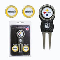 NFL Pittsburgh Steelers Signature Divot Tool and 2 Extra