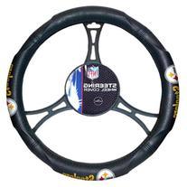 NFL Pittsburgh Steelers Steering Wheel Cover, Black, One