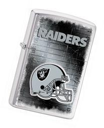 Zippo NFL Raiders Lighter, Silver, 5 1/2 x 3 1/2cm
