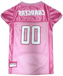 Pets First NFL San Diego Chargers Jersey, Large, Pink
