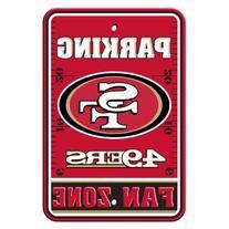 NFL San Francisco 49ers Hi-Res Metal Parking Sign