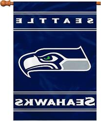 NFL Seattle Seahawks 2-Sided 28-by-40-Inch House Banner