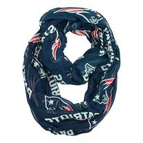 NFL New England Patriots Sheer Infinity Scarf, One Size,