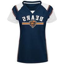 NFL Chicago Bears Women's Short Sleeve Raglan V-Neck Tee,