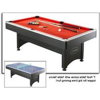 NG1023 7' Pool Table with Table Tennis Featuring an Easy