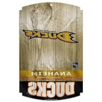 NHL Anaheim Ducks Wood Sign