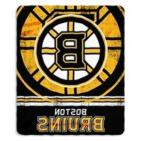 NHL Boston Bruins Fade Away Printed Fleece Throw, 50-inch by