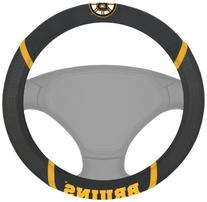 FANMATS NHL Boston Bruins Polyester Steering Wheel Cover