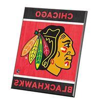 """NHL Chicago Blackhawks Wood Easel Sign, 8 x 10"""", Team Color"""