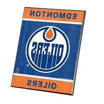 "NHL Edmonton Oilers Wood Easel Sign, 8 x 10"", Team Color"