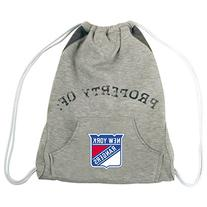 NHL New York Rangers Hoodie Cinch Backpack, 14 x 17-Inch,