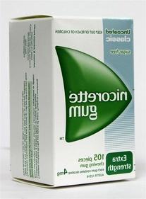 Nicorette Nicotine Gum 4mg Classic Original 630 Pieces 6