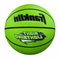 Franklin Sports Night Lightning B3 Rubber Basketball