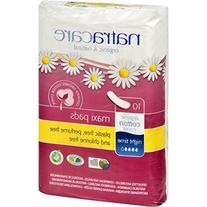 Natracare Night-Time Pads 10 count - 95% Bio-degradable Non-