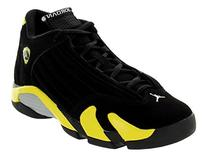Nike Jordan Kids Air Jordan 14 Retro BG Black/Vibrant Yellow