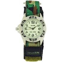 Ravel Nite-Glo Quartz Luminous Dial Green Camouflage Velcro