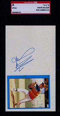 NOLAN RYAN SGC SIGNED 3X5 INDEX CARD AUTHENTICATED AUTOGRAPH