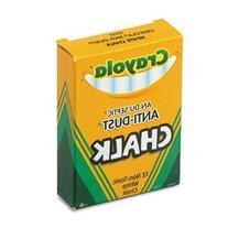 Nontoxic Anti-Dust Chalk, White, 12 Sticks/Box