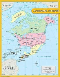 Teacher Created Resources North America Map Chart, Multi