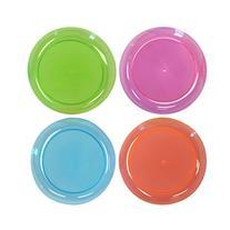Party Essentials Hard Plastic 6-Inch Round Party/Dessert