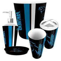 Carolina Panthers 5 Piece Bathroom Set