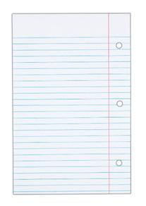 TOPS Notebook Filler Paper, College Ruled, 8.5 x 5.5 Inches