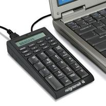 Kensington Notebook Keypad/Calculator with USB Hub, 19-Key