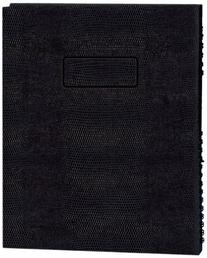 NotePro Undated Daily Planner, Black, 200 Pages,11 x 8-1/2