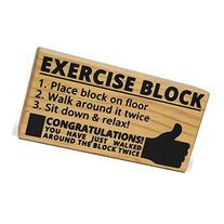 Novelty Exercise Block Joke Gag Gift - For Those Who Want To