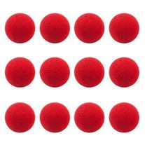 12-Pack of Novelty Red Foam Clown Noses by Pudgy Pedro's