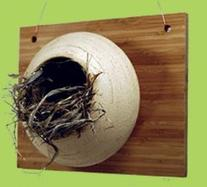Amaranth Stoneware NS MEA Nest Box - Meadow
