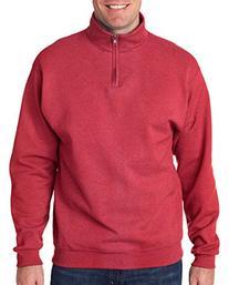JERZEES Adult NuBlend Quarter-Zip Cadet-Collar Sweatshirt>L