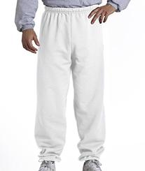 8 oz Sweatpant  No Pockets Available in 10 Colors - White