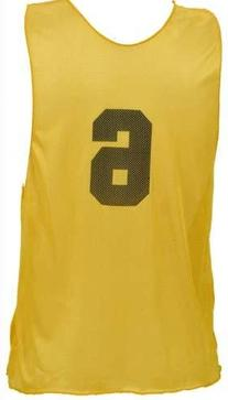 Champion Sports Adult Numbered Practice Vest, Yellow