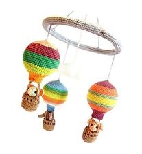 Nursery Mobile Baby, Hot air balloon mobile, Colorful