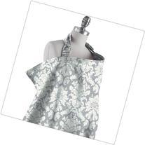 Bebe au Lait Premium Cotton Nursing Cover, Chateau Silver