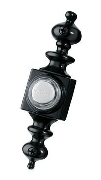 NuTone PB4LBL Wired Lighted Door Chime Push Button, Black