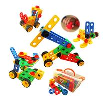 Nuts and Bolts Building Toy for Toddlers with Tool Box