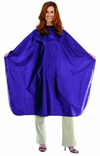 Betty Dain Nylon Chemical Cape, Purple, Velcro Closure