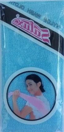 Salux Nylon Japanese Beauty Skin Bath Wash Cloth/towel  Blue