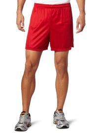 Soffe Men's Nylon Mini-Mesh Short Red Medium
