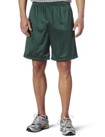 Soffe Men's Nylon Mini-Mesh Fitness Short Dark Green  X-