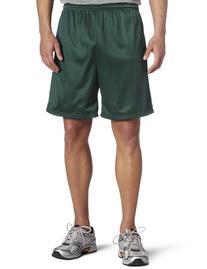 Soffe Men's Nylon Mini-Mesh Fitness Short Dark Green  X-